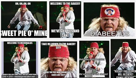 Axl Rose Meme Cake - fat axl rose know your meme