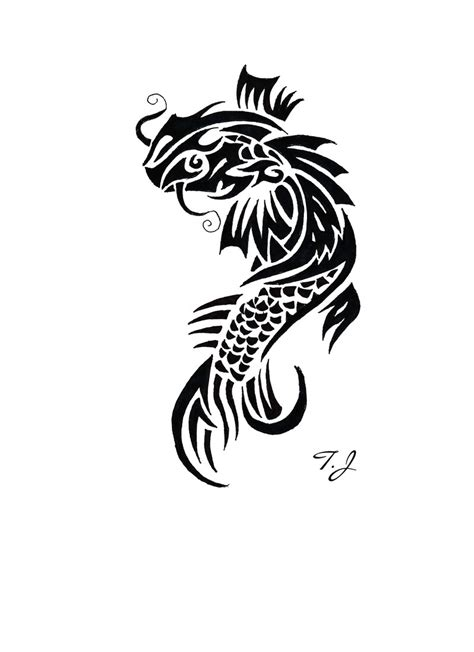 koi fish tribal by silgan on deviantart