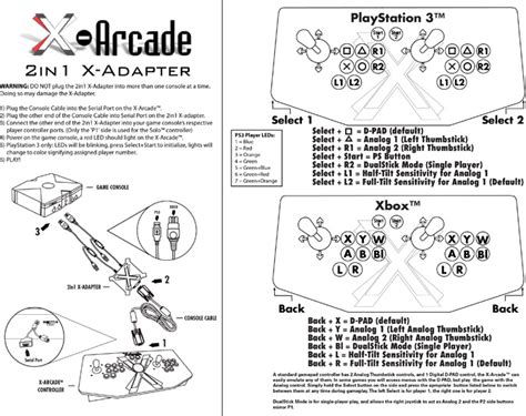 game instructions layout 2in1 x adapter help instructions playstation 3