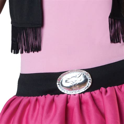 Wst 18320 Black Pink Barcode Dress children giddy up costume age 8 10 years