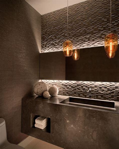 textured tile backsplash client 21 powder room