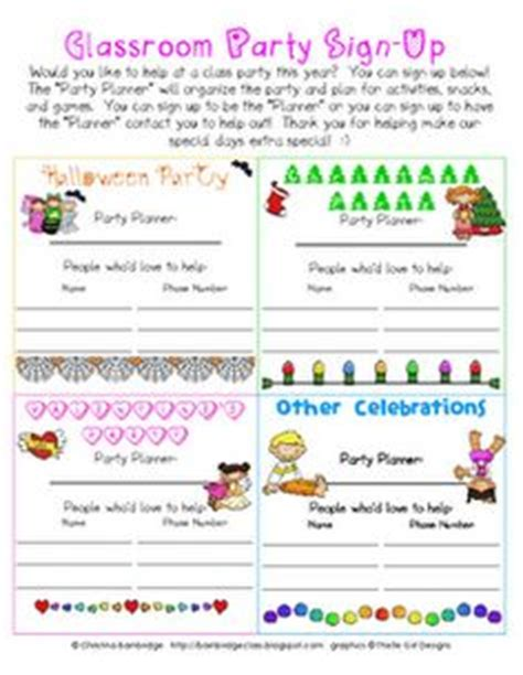 christmas party sign up template 1000 images about school idea s classroom on day of school open house and