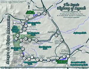 cuchara colorado map peaks country scenic highway of legends