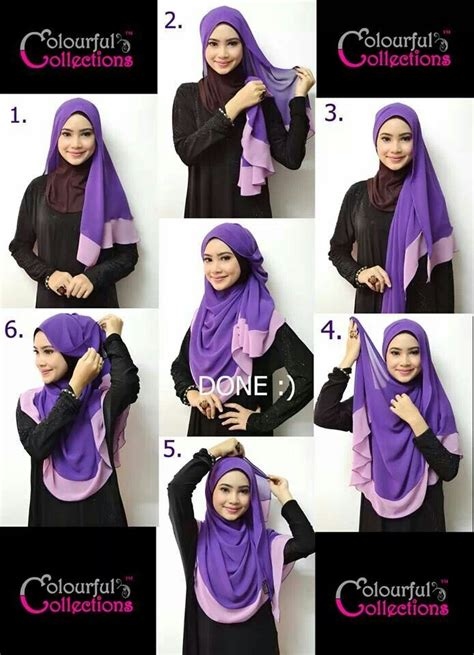 tutorial pashmina labuh pretty hijab style my style pinterest beautiful