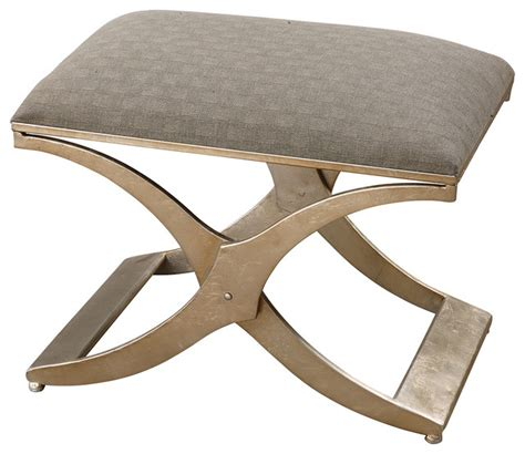 Small Ottoman Bench Uttermost Kiah Modern Small Bench 23207 Contemporary Footstools And Ottomans By Benjamin