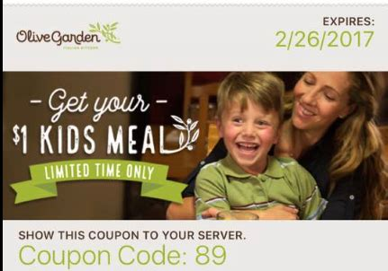 olive garden 1 kid july 2017 arizona families olive garden coupon for 1 meal nationwide