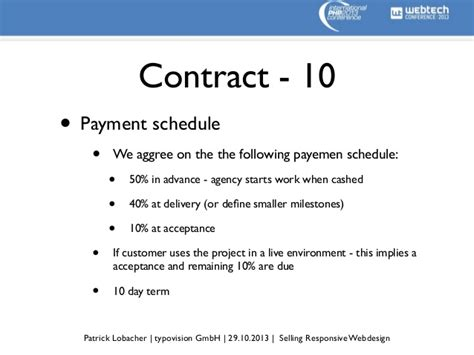 design and build contract payment terms selling responsive webdesign webtech conference 2013