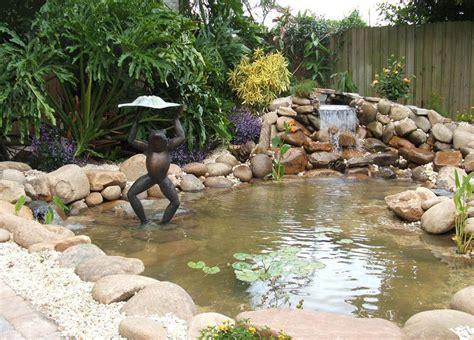backyard waterfalls and ponds triyae com backyard ponds and waterfalls various