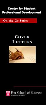 cover letters fox school of business temple university