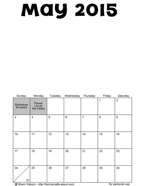 printable planner may 2015 printable may 2015 calendars holiday favorites