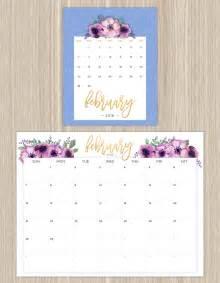 Calendar 2018 Printable Floral Printable Calendars For A More Floral 2017 Calendar