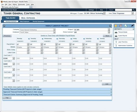 Labor Tracking Spreadsheet by Corecon V7 Review Pricing Features Comparison Demo