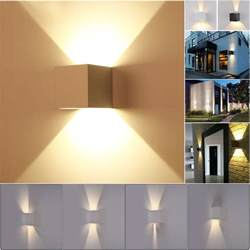 Led Wall Sconce Indoor New 7w Modern Led Wall Light Up Cube Indoor Outdoor Sconce Lighting L Ebay