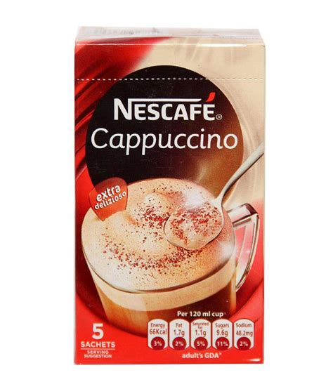 nescafe cappucino nescafe cappuccino nutritional information nutrition ftempo