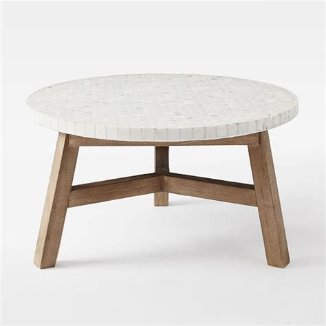 White Marble Top Coffee Table Mosaic Tiled Coffee Table White Marble Top West Elm