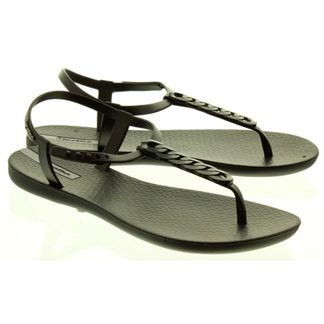 Sandal In Black by Ipanema Links Sandals In Black In Black