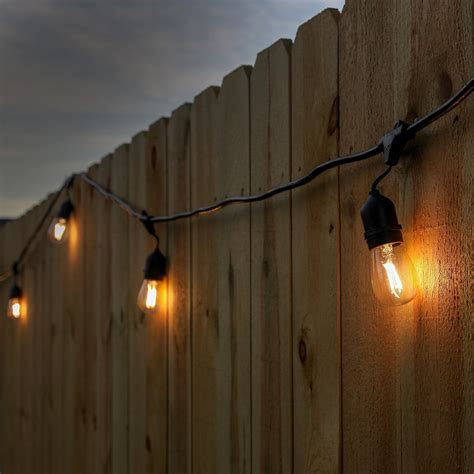 Patio String Lights Led Newhouse Lighting 48 Foot Outdoor String Lights Led Bulbs Included