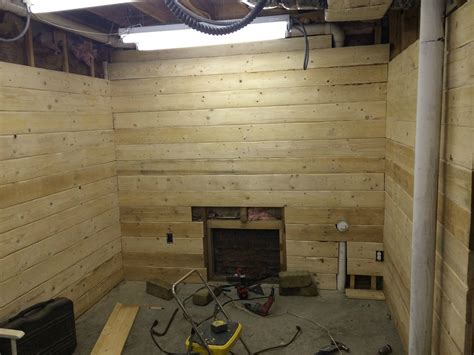 turn  basement   log cabin getaway
