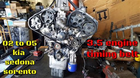 2005 Kia Sedona How To Set Timing Timing Belt Jumped