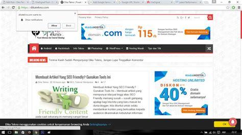 membuat wordpress muncul di google cara membuat notifikasi di wordpress dika tekno