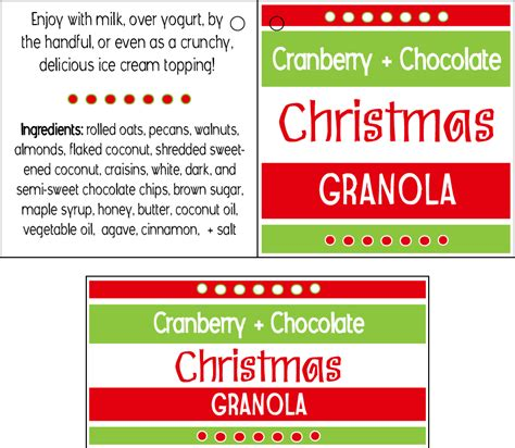 printable granola labels sincerely jenna marie a st louis life and style blog