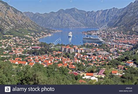 kotor cruise port cruise ship kotor port montenegro stock photos cruise