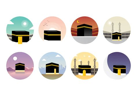 icon design köln free makkah kaaba vector download free vector art stock