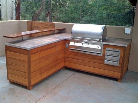 outdoor bbq kitchen cabinets outdoor kitchen bbq island made to look like wooden furniture 4x4 framing cedar siding