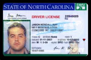 carolina drivers license number background