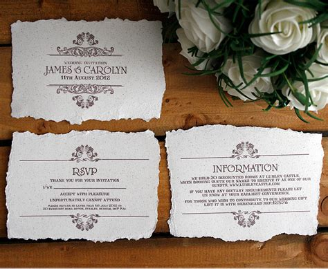 Wedding Invitation Bundles by Vintage Style Wedding Invitation By Solographic