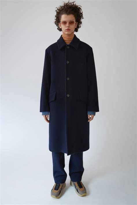 Navy Fashion acne studios outerwear mens magma navy hwans
