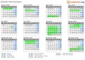Kalender 2018 Mit Feiertagen Und Ferien Kalender 2018 Ferien Th 252 Ringen Feiertage