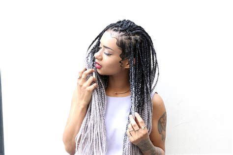 black to grey ombre box braids hairstyles silver grey crochet braids short hairstyle 2013