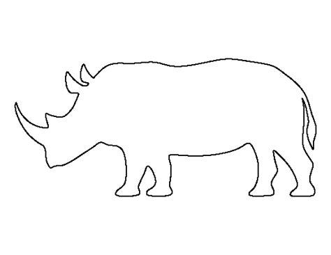 pattern universe pig printable rhinoceros template