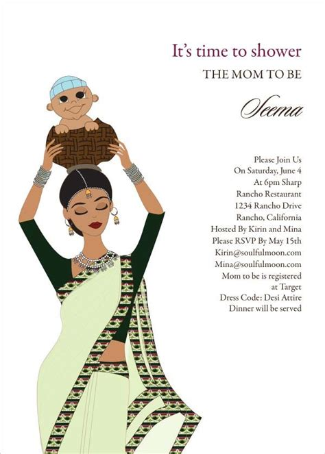 Baby Shower Carrier by Baby Carrier Indian Baby Shower Invitation By