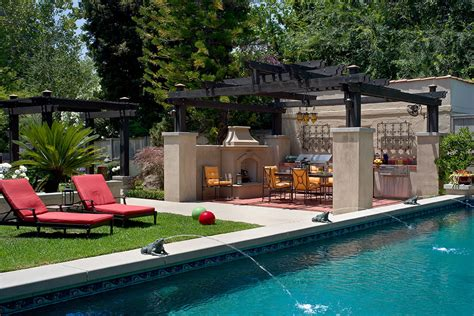 pool with outdoor living designs pool with outdoor living outdoor living design by huntington pools inc southern