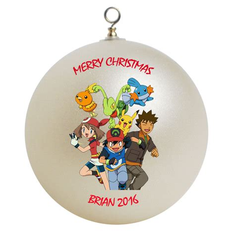 personalized pokemon christmas ornament gift 2 ornaments