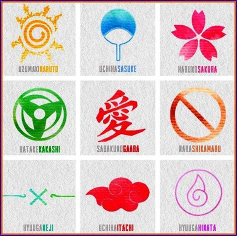 naruto themes names naruto clan symbols and names www imgkid com the image