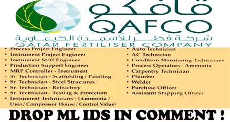 Fresher Mba In Qatar by Vacancies In Qatar Fertilizer Company Qafco