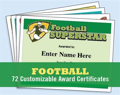 football certificate templates football certificates templates youth football kid