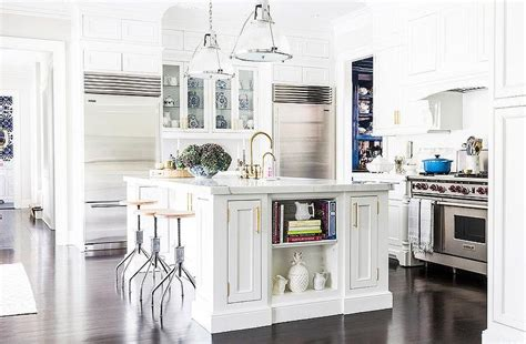 kitchen with center island hudson valley lighting haverhill pendants with white