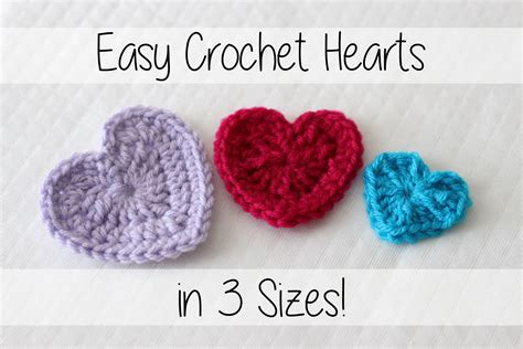 crochet heart pattern uk youtube easy crochet hearts 3 sizes sewrella youtube