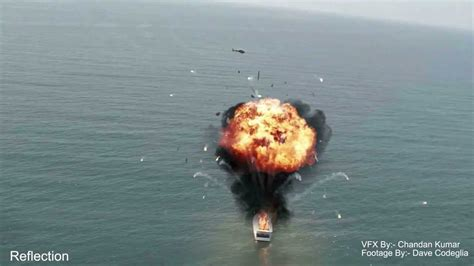 explosion on a boat tutorial preview vfx integration compositing a boat