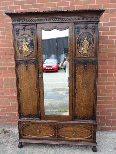 antique oak armoire wardrobe antique oak japanned chinoiserie wardrobe armoire