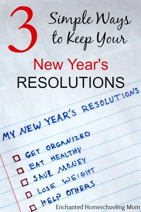 simple new year resolutions 3 simple ways to keep your new year s resolutions new