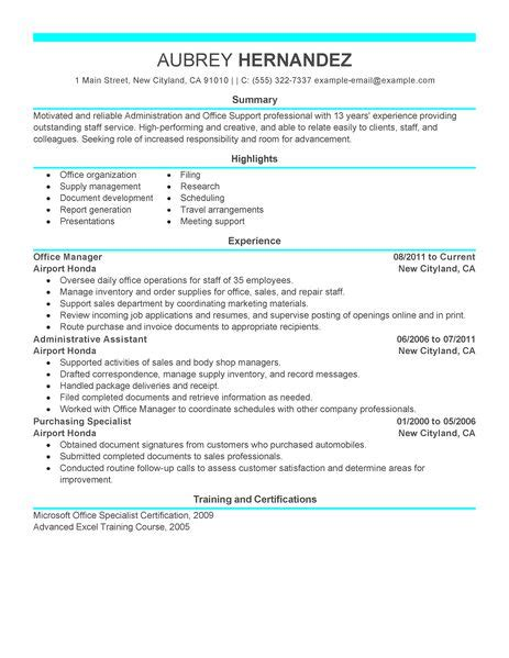 Sles Of Administrative Resumes by Admin Resume Exles Admin Sle Resumes Livecareer