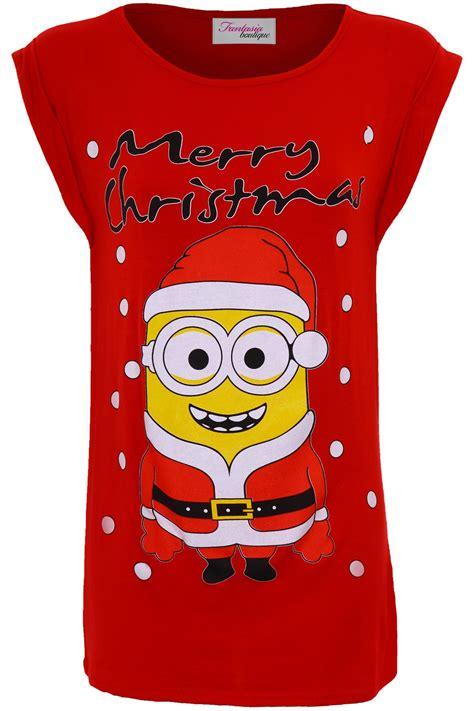 ladies olaf frozen minion merry christmas xmas festive