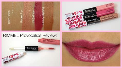 Rimmel Provocalips 60 second review rimmel provocalips 16hr lip stains