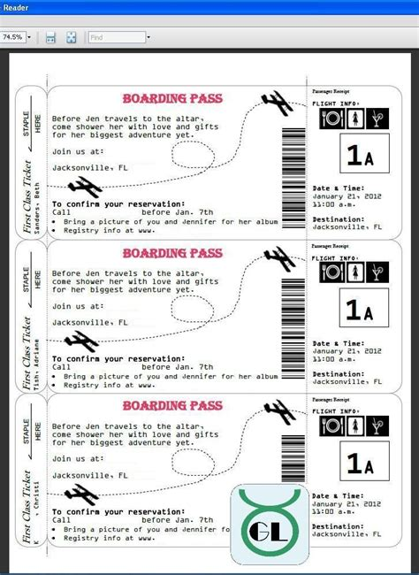 airline ticket template boarding pass invites for travel