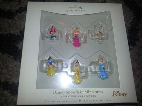 Hallmark Collectible Ornaments Value - 2006 hallmark disney princess snowflake miniature